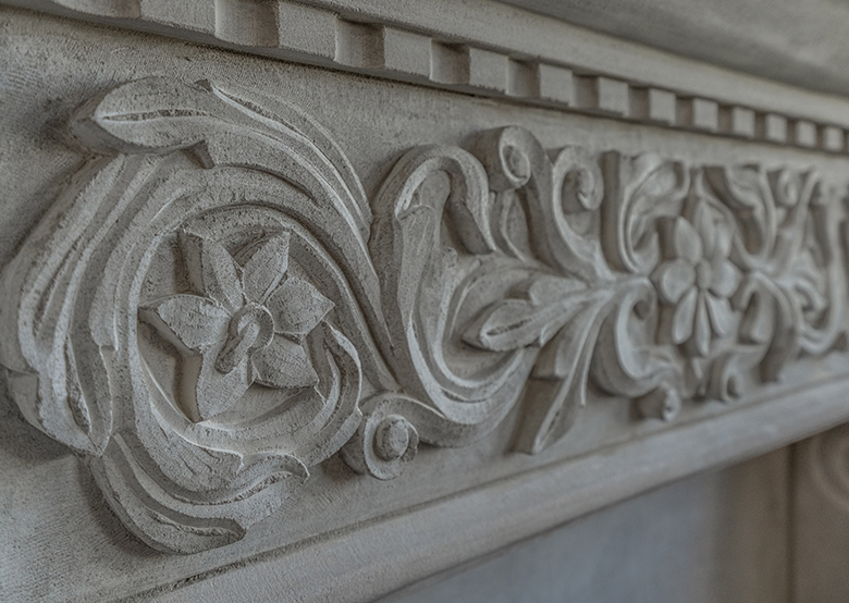 Carved molding detail