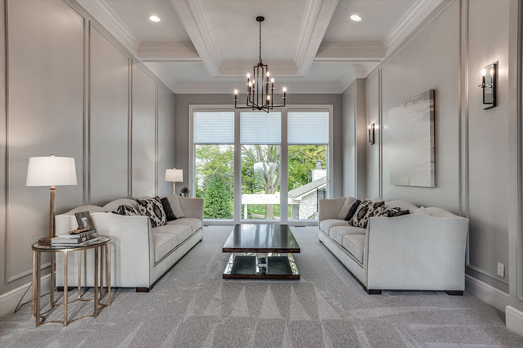 Contemporary Living Room in shades of gray