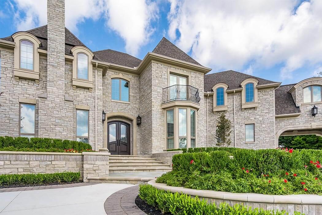 Estate home exterior