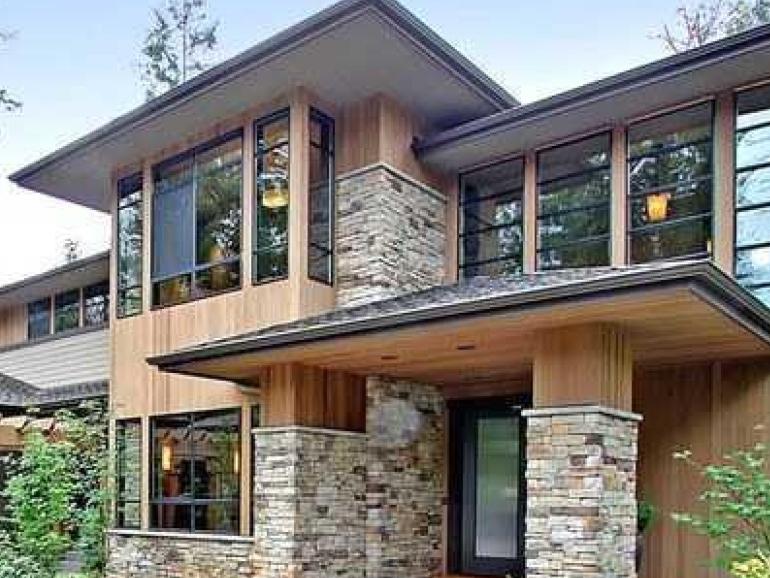 Prairie-Style Home Exterior
